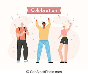 Group of happy people at Celebration