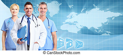 Health care background.