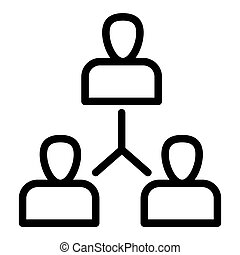Group of people line icon. Exchange of ideas illustration isolated on white. Team outline style design, designed for web and app. Eps 10.