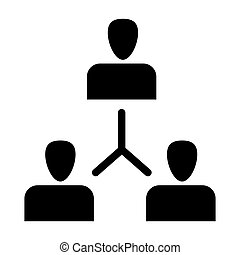 Group of people solid icon. Exchange of ideas illustration isolated on white. Team glyph style design, designed for web and app. Eps 10.
