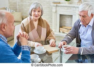 Group of senior people in nursing home