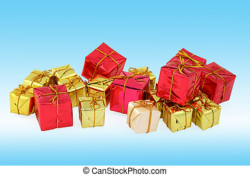 group of various christmas gifts