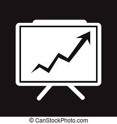 Growing Chart Presentation Icon