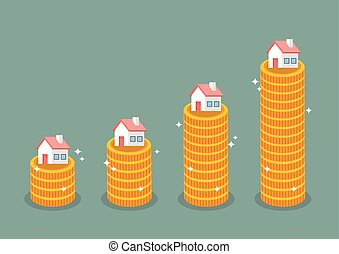 Growth in real estate concept