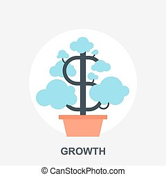 Vector illustration of growth flat design concept.