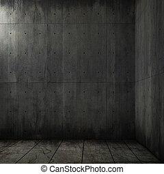 grunge background of concrete room corner
