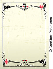 A grunge card frame for a poster.