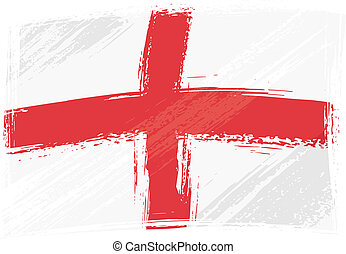 England national flag created in grunge style