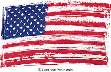 USA national flag created in grunge style