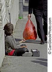 gypsy child beggar