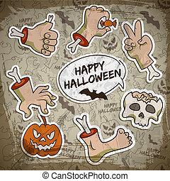 Halloween Greeting Concept