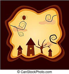 Halloween set for design. Illustration vector.