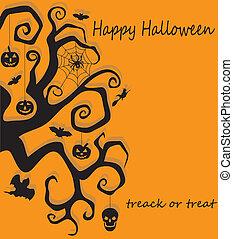 Halloween tree decoration