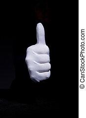 Hand in a white glove