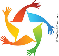 Hand Stars Logo