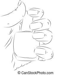 Hand with nail polish