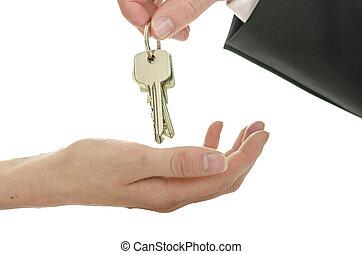 Handover of house keys