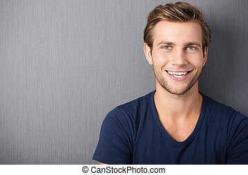 Handsome smiling young man