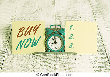 Handwriting text writing Buy Now. Concept meaning asking someone to purchase your product Provide good Discount.