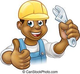 Handyman Mechanic or Plumber With Spanner