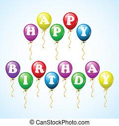 Happy birthday celebration balloons