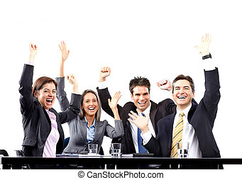 Happy business people team