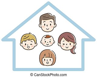 Happy family and own home