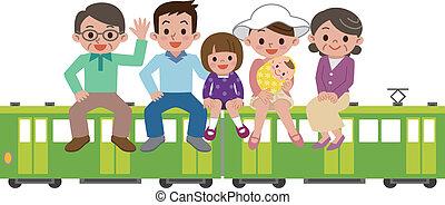 Happy Family and train