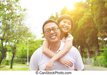 happy Father and little girl