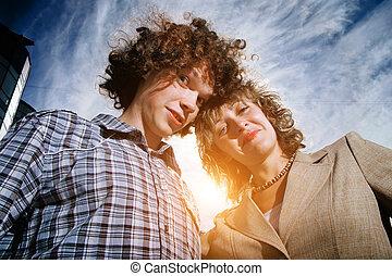 Happy fun couple