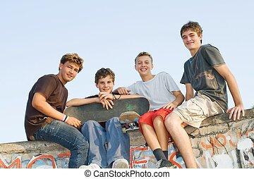 group of teen boys