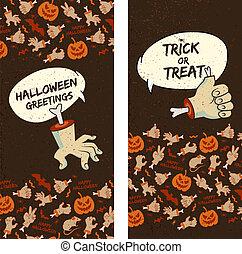 Happy Halloween Vertical Banners