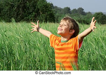 happy healthy summer child