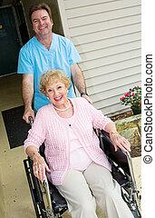 Happy Nursing Home Resident