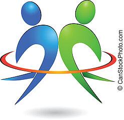 Happy people logo vector