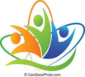 Happy people success app logo