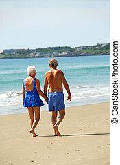 Happy retired couple