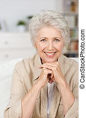 Happy smiling senior woman
