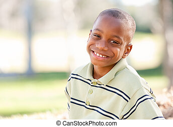 Happy Young African American Boy
