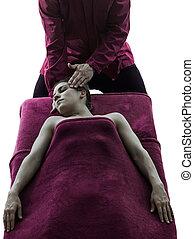 head massage therapy silhouette