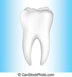 illustration of healthy tooth on abstract background