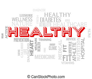 Healthy Words Shows Fitness Healthcare And Wellness