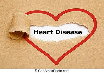 Heart Disease Torn Paper