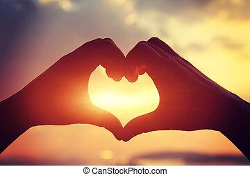 Heart shape making of hands