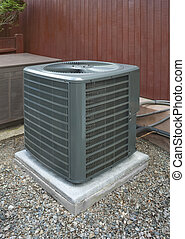 Heat pump and ac unit used to cool and heat a house
