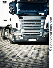 Heavy truck front view