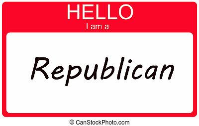 Hello I am a Republican