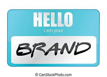 Hello I am your Brand illustration
