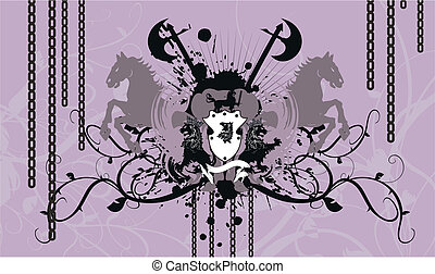 heraldic coat of arms background in vector format
