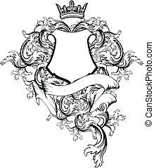 heraldic coat of arms copyspace in vector format